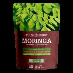 אבקת מורינגה המסייעת לטיפול בדלקות מפרקים וכיבים, מורידה סוכר וכולסטרול ומהווה מקור צמחי לחלבון, ברזל וסידן.